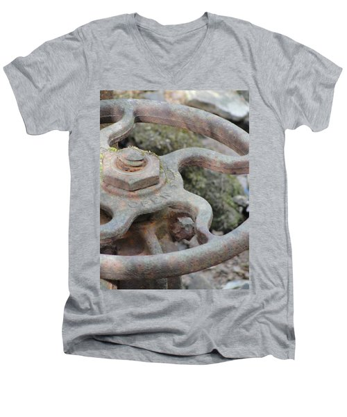 Men's V-Neck T-Shirt featuring the photograph Open Or Close by Tiffany Erdman