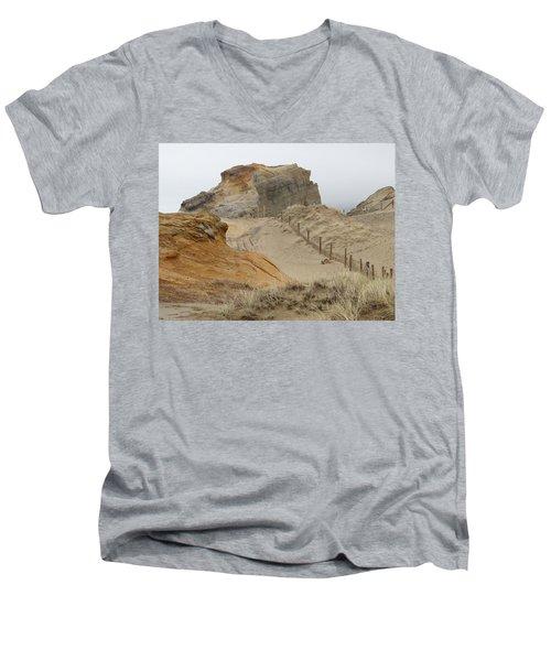Oregon Sand Dunes Men's V-Neck T-Shirt by Athena Mckinzie