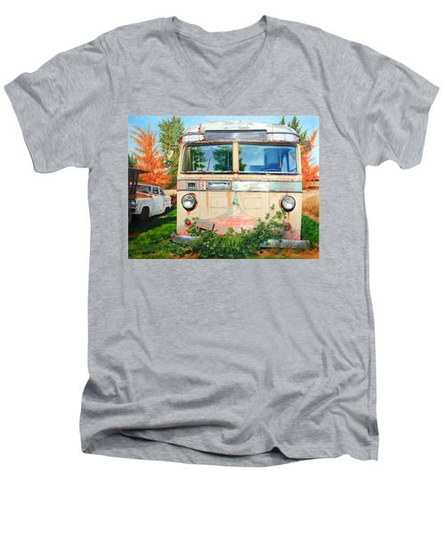 Out Where The Buses Don't Run Men's V-Neck T-Shirt