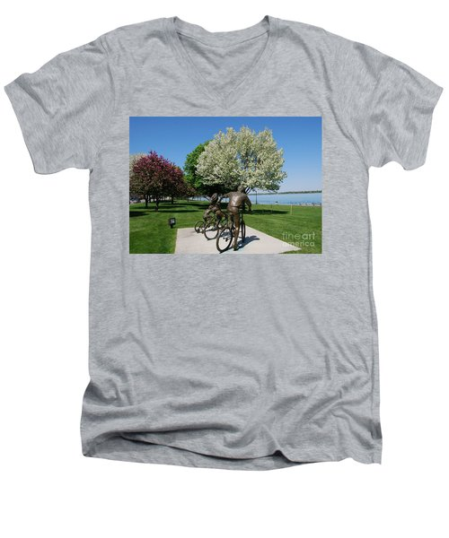 Palmer Park In Spring 2 Men's V-Neck T-Shirt