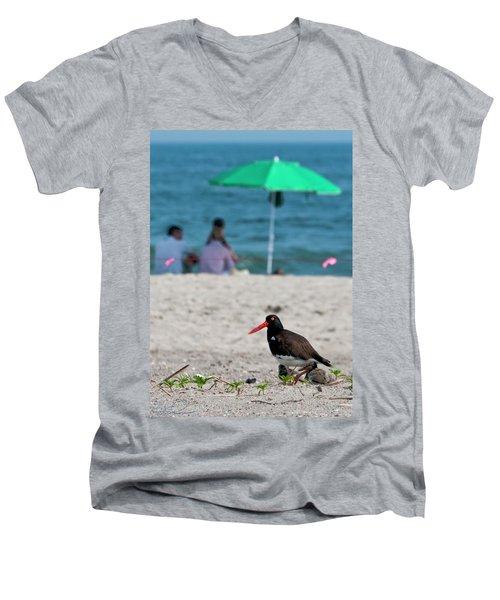 Parenting On A Beach Men's V-Neck T-Shirt
