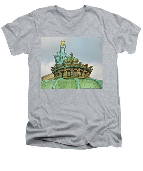 Paris Opera House Roof Men's V-Neck T-Shirt