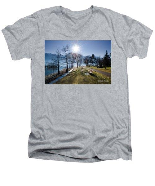 Park On The Lakefront Men's V-Neck T-Shirt