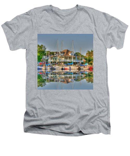 Pascagoula Boat Harbor Men's V-Neck T-Shirt