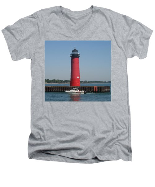 Men's V-Neck T-Shirt featuring the photograph Passing By by Kay Novy