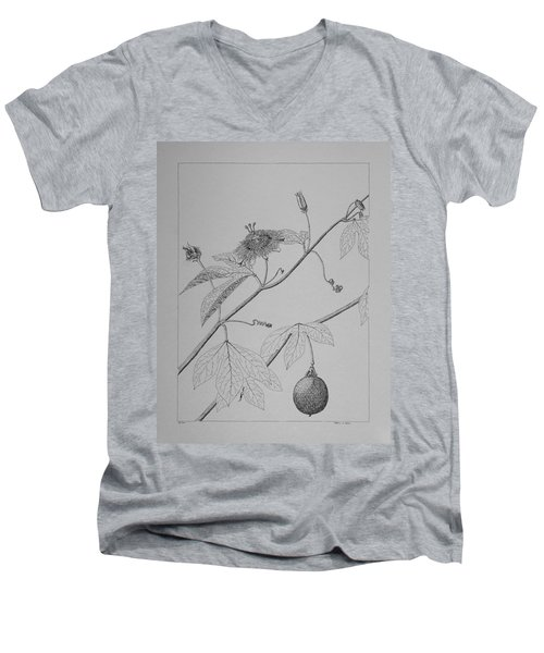 Passionflower Vine Men's V-Neck T-Shirt