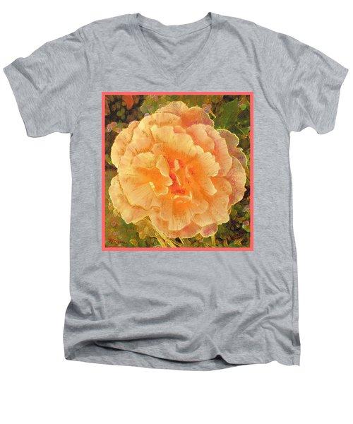 Peach Begonia Men's V-Neck T-Shirt