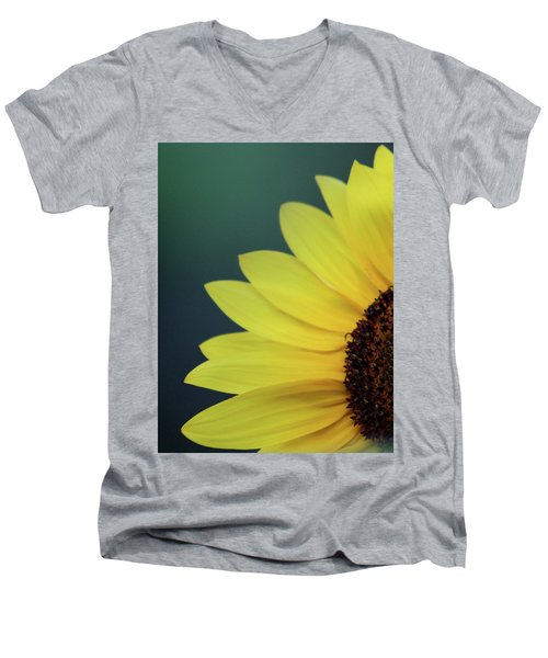 Men's V-Neck T-Shirt featuring the photograph Pedals Of Sunshine by Cathie Douglas
