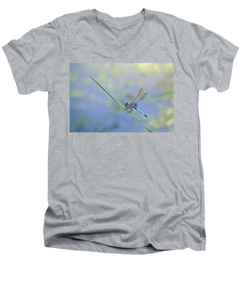 Men's V-Neck T-Shirt featuring the photograph Perched Dragon by JD Grimes