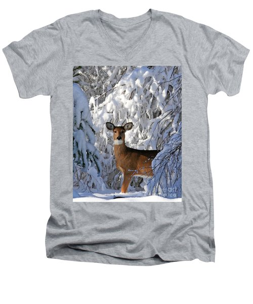 Perfect Pose Men's V-Neck T-Shirt