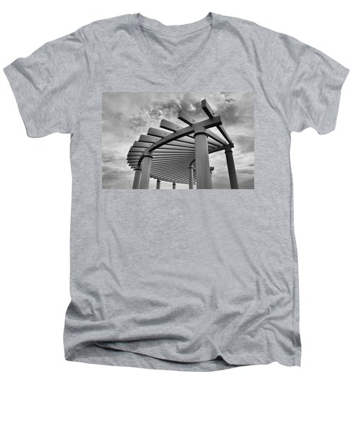 Men's V-Neck T-Shirt featuring the photograph Pergola by Brian Hughes