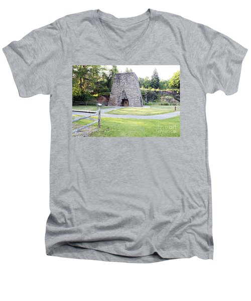 Men's V-Neck T-Shirt featuring the photograph Pine Grove Furnace State Park by Tony Cooper