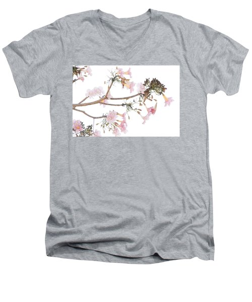 Pink Blossoms In Panama Men's V-Neck T-Shirt
