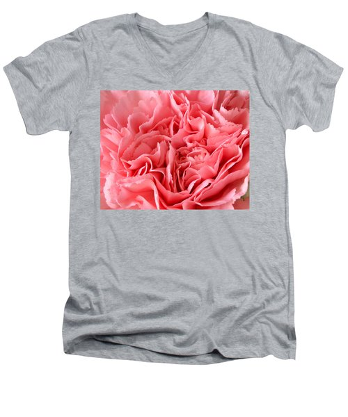 Pink Carnation Men's V-Neck T-Shirt