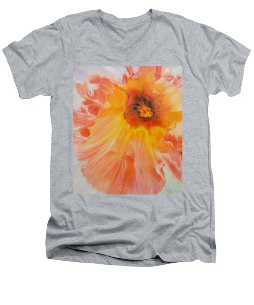 Pink Ruffles Men's V-Neck T-Shirt