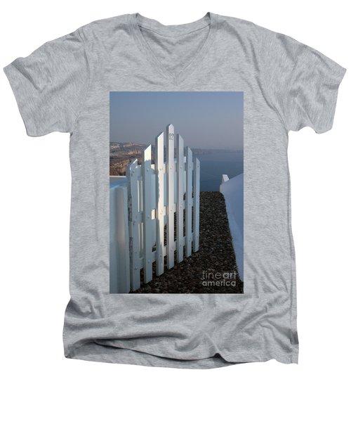 Please Come In Men's V-Neck T-Shirt by Vivian Christopher