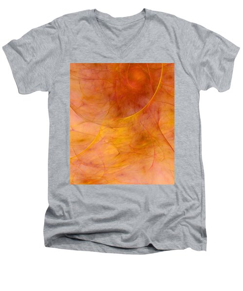 Poetic Emotions Abstract Expressionism Men's V-Neck T-Shirt