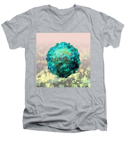 Polio Virus Particle Or Virion Poliovirus 1 Men's V-Neck T-Shirt