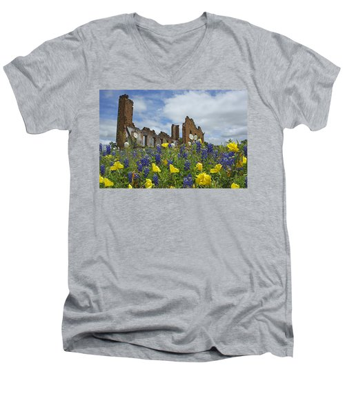 Pontotoc Schoolhouse Men's V-Neck T-Shirt