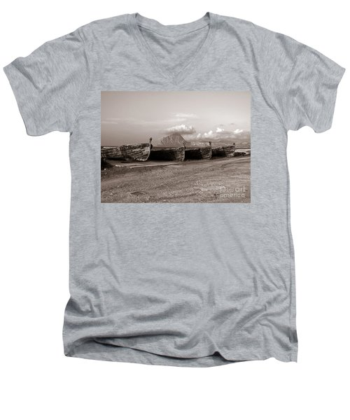 Old Port Of Trapani Men's V-Neck T-Shirt