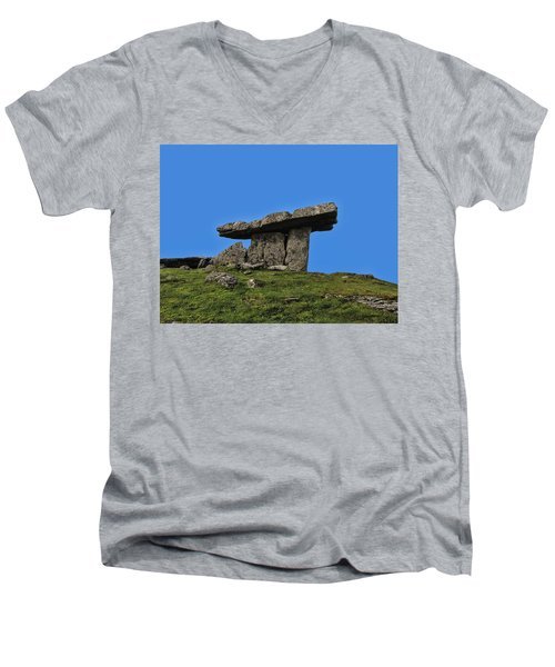 Men's V-Neck T-Shirt featuring the photograph Poulnabrone Dolmen by David Gleeson