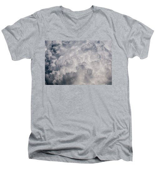 Men's V-Neck T-Shirt featuring the photograph Powder Puff by Colleen Coccia