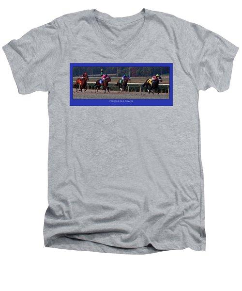 Presque Isle Downs Men's V-Neck T-Shirt