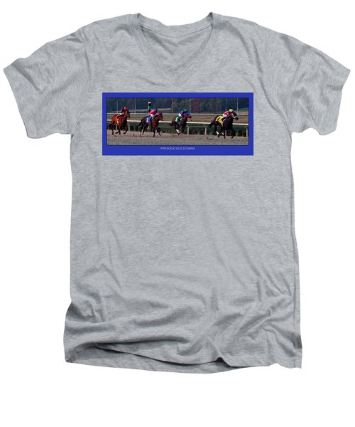 Presque Isle Downs Men's V-Neck T-Shirt