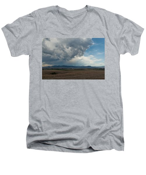 Men's V-Neck T-Shirt featuring the photograph Promises Of Rain by Fran Riley