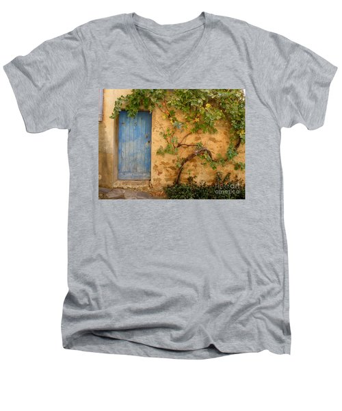 Provence Door 5 Men's V-Neck T-Shirt by Lainie Wrightson