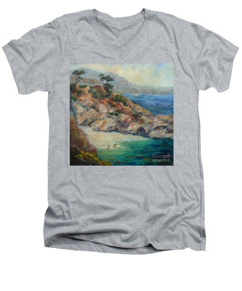 Pt Lobos View Men's V-Neck T-Shirt