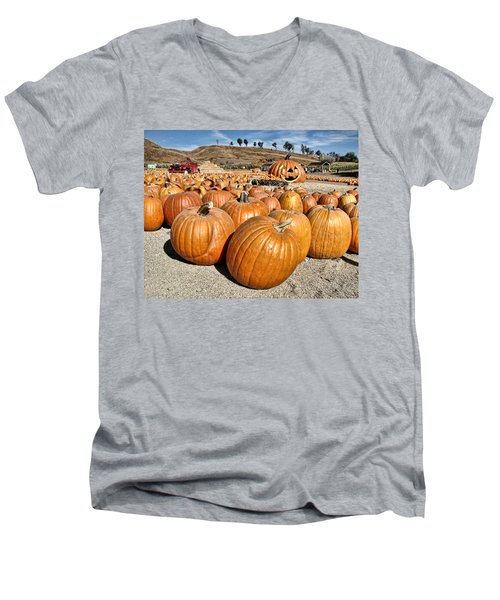 Pumpkin Patch 3 Men's V-Neck T-Shirt