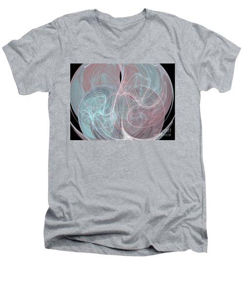 Men's V-Neck T-Shirt featuring the digital art Quadrant by Kim Sy Ok