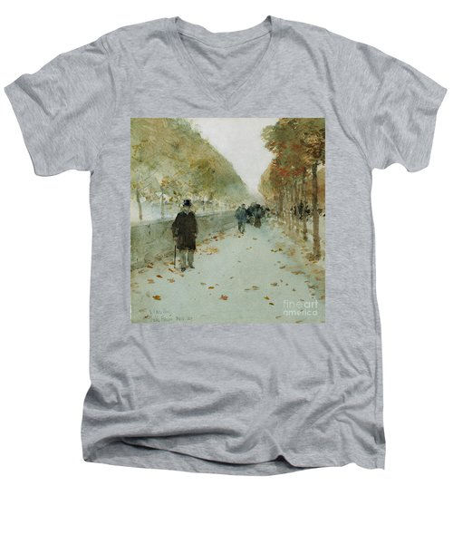 Quai Du Louvre Men's V-Neck T-Shirt