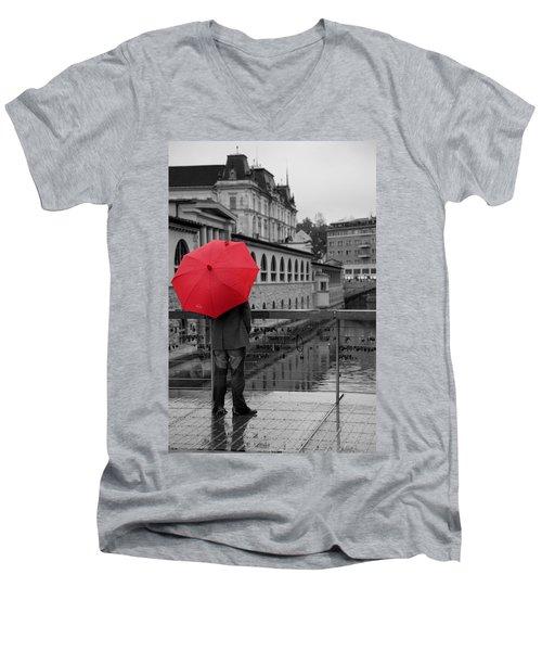 Rainy Days In Ljubljana Men's V-Neck T-Shirt