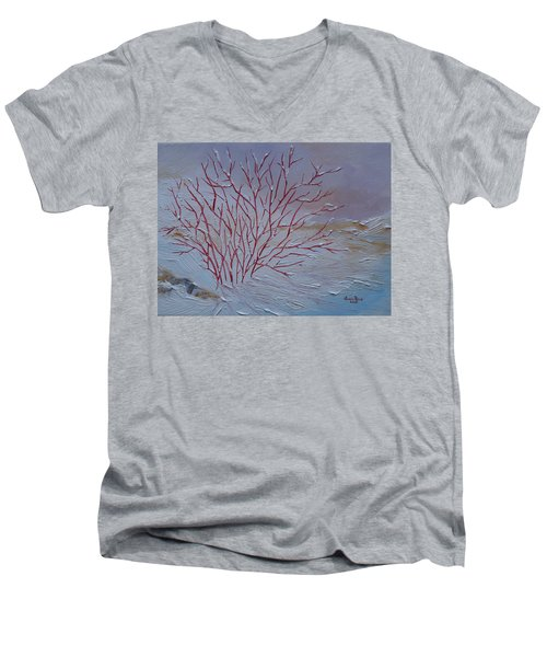 Red Branches Men's V-Neck T-Shirt by Judith Rhue