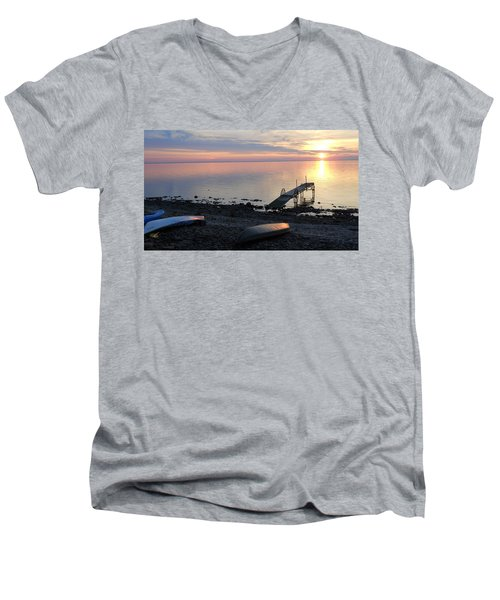 Restful Waters Men's V-Neck T-Shirt
