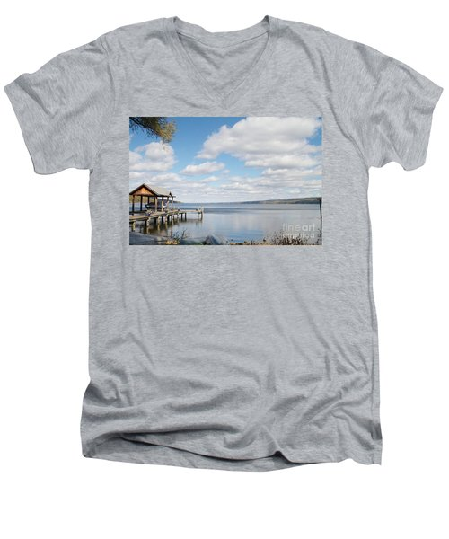 Resting Waters Men's V-Neck T-Shirt