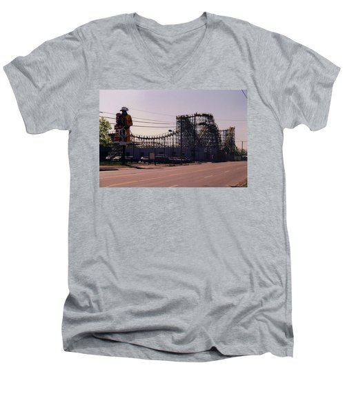 Men's V-Neck T-Shirt featuring the photograph Ride It Cowboy by Stacy C Bottoms