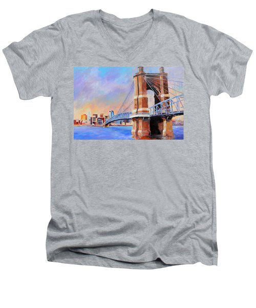 Roebling Twilight Men's V-Neck T-Shirt