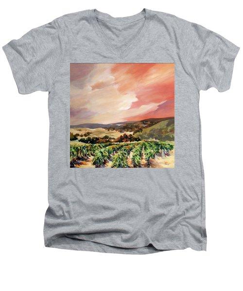 Rolling Vineyards 2 Men's V-Neck T-Shirt