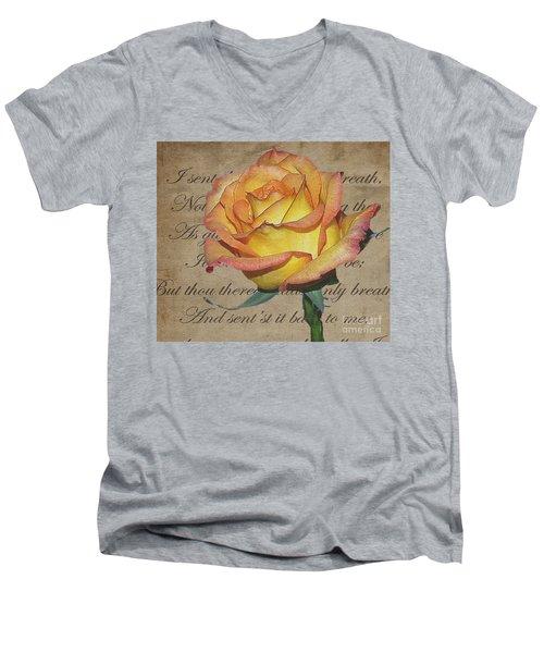 Romantic Rose Men's V-Neck T-Shirt