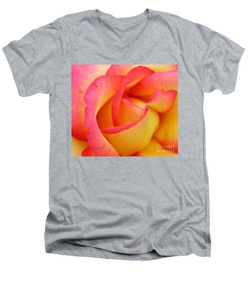 Rose 3 Men's V-Neck T-Shirt by Mark Gilman