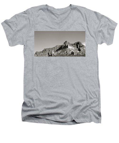 Salt River Black And White Men's V-Neck T-Shirt by Pamela Walrath