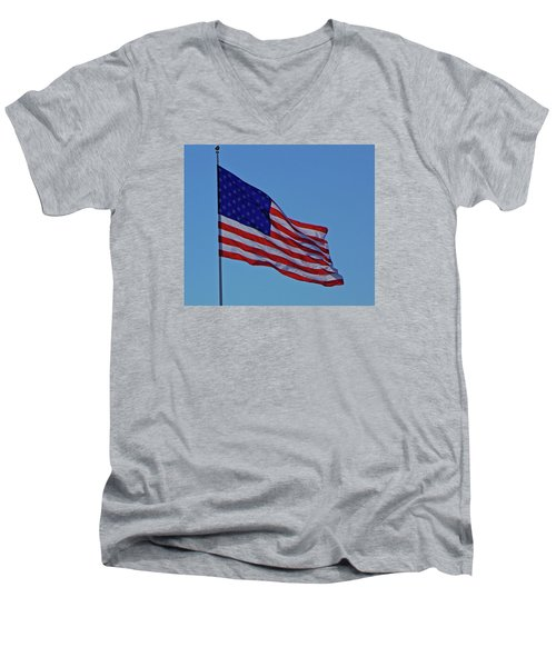 Salute Men's V-Neck T-Shirt by Paul  Wilford
