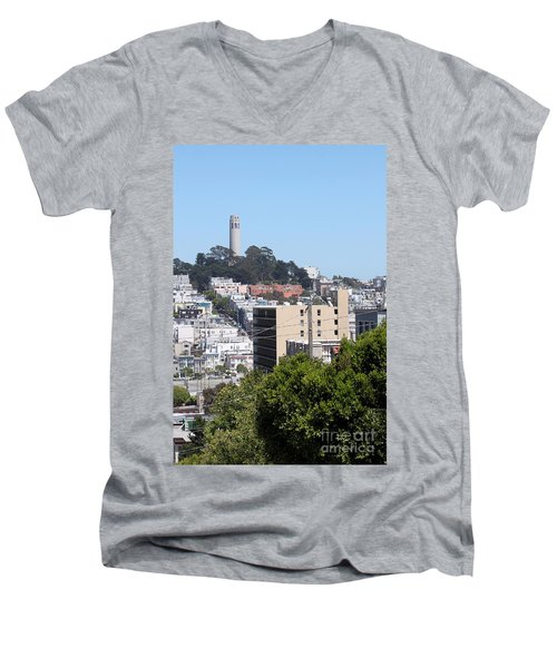 San Francisco Coit Tower Men's V-Neck T-Shirt