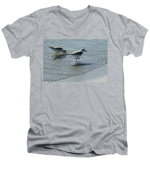 Sandpiper 7 Men's V-Neck T-Shirt by Joe Faherty