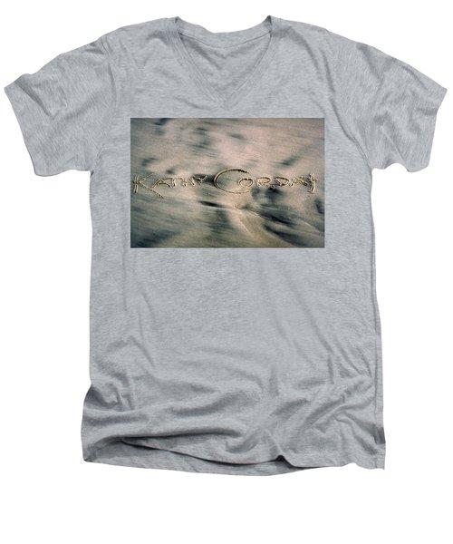Sandscript Men's V-Neck T-Shirt