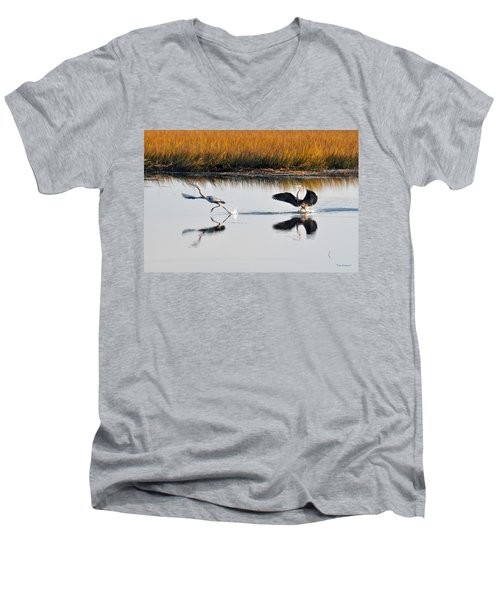 Scram Men's V-Neck T-Shirt by Kay Lovingood