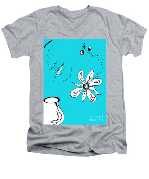 Serenity In Blue Men's V-Neck T-Shirt